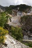 Marmeren steengroeve in Carrara royalty-vrije stock fotografie