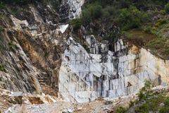 Marmeren steengroeve in Carrara royalty-vrije stock afbeeldingen