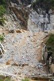 Marmeren steengroeve in Carrara royalty-vrije stock afbeelding