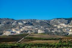 Marmeren steengroeve in Sicilië Stock Afbeeldingen