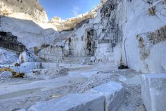 Marmeren steengroeven van Carrara Stock Afbeelding