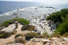 Marmeren strand royalty-vrije stock foto