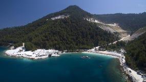 Marmeren strand stock fotografie