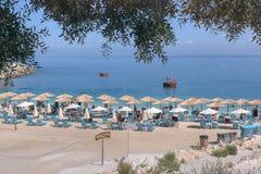 Marmeren Strand, Thassos-eiland, Griekenland Stock Foto