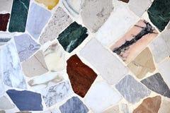 Marmeren stukken gekleurde vloer Stock Fotografie