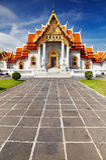 Marmeren Tempel in Bangkok stock foto's
