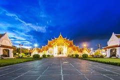 Marmeren Tempel, Bangkok Royalty-vrije Stock Foto's