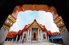 Marmeren Tempel in Thailand Royalty-vrije Stock Afbeeldingen