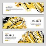 Marmeren textuurbanner Royalty-vrije Stock Afbeelding