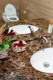 Marmeren toilet Stock Foto's