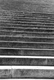 Marmeren trede met witte stappen aan oneindigheid Stock Afbeeldingen