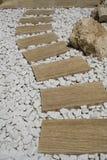 Marmeren weg Stock Foto