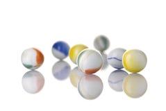 Marmi bianchi del giocattolo Fotografia Stock Libera da Diritti