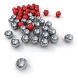 Marmi in colore rosso e metallo Fotografie Stock Libere da Diritti