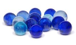 Marmi di vetro blu immagine stock