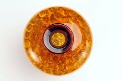 Marmi di vetro in bottiglia Fotografie Stock Libere da Diritti