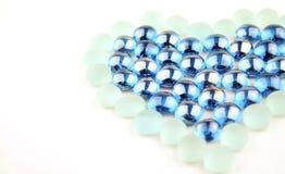 Marmi di vetro del cuore Immagine Stock Libera da Diritti