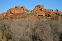 Marmi Karlu Karlu nel Territorio del Nord, Australia dei diavoli immagini stock libere da diritti