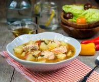 Marmitako tuna pot fish salmon stew with potatoes Royalty Free Stock Image