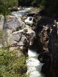 Marmitte y río Foto de archivo