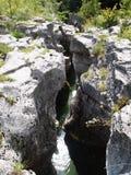 Marmitte y su río Foto de archivo libre de regalías