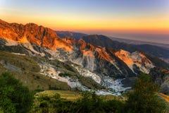 Marmo al tramonto Immagine Stock