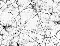 Marmo incrinato in bianco e nero o grigio naturale astratto per la parte posteriore Immagini Stock Libere da Diritti