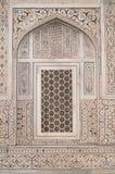 Marmo intarsiato decorato sulla tomba del magnate fotografie stock libere da diritti
