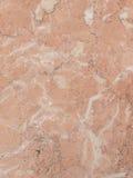 Marmo rosa con le vene Fotografia Stock