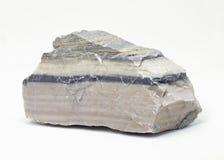 Marmo a strisce su un fondo bianco Fotografia Stock