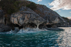 Marmol Cathedral rock formation, Carretera Austral, HIghway 7, C Stock Photo