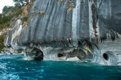 Marmol Cathedral rock formation, Carretera Austral, HIghway 7, C Stock Photos