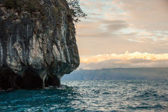 Marmol Cathedral rock formation, Carretera Austral, HIghway 7, C Royalty Free Stock Photography