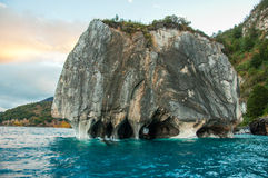 Marmol Cathedral rock formation, Carretera Austral, HIghway 7, C Royalty Free Stock Photo
