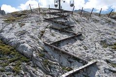 marmolada山路径 免版税库存照片