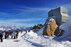 Marmolada的顶层,意大利 免版税图库摄影