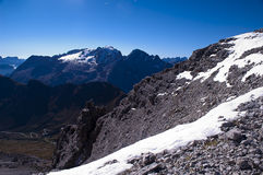 Marmolada самая высокая вершина доломитов Стоковое Изображение