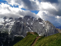Marmolada Alps, Italy. Marmolada  is   the highest mountain of the Dolomites (3,343m). The Dolomites  are a mountain range located in north-eastern Italy. A Stock Photo