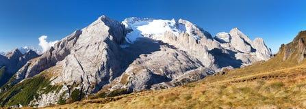 Marmolada, der höchste Berg von Dolomitbergen Lizenzfreie Stockbilder