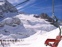 Marmolada-Details des Gletschers Lizenzfreie Stockbilder