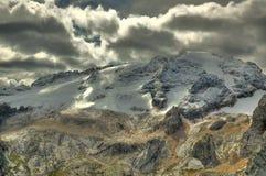 Marmolada - Dolomites. Majestic view of glacier Marmolada, Dolomites - Italy royalty free stock photos