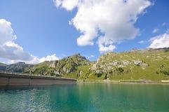 Marmolada e diga - dolomia, Italia Fotografia Stock