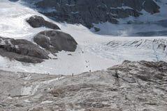 Marmolada glacier Royalty Free Stock Photos