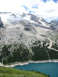 Marmolada glacier Stock Photo
