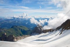 Marmolada glacier, Dolomites, Alps, Italy Stock Photo