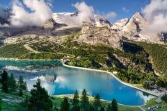 Marmolada glacier, Dolomites, Italy Stock Images