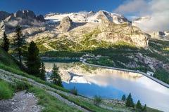 Marmolada glacier, Dolomites, Italy Stock Image