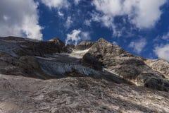 Marmolada glacier landscape Stock Images