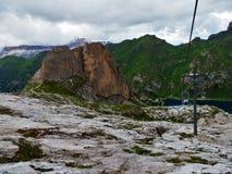 Marmolada, Italy. The Marmolada Glacier (Italian: Ghiacciaio della Marmolada) is located on the mountain Marmolada in the district of Trentino in the Veneto stock photo