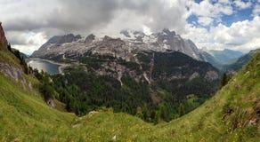 Marmolada and lago Fedaia, Italy Stock Photography